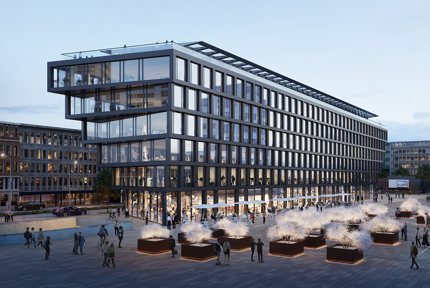 Architekt Duisburg sk62 projekte mercator one duisburg